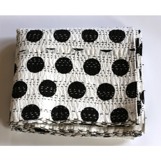 Black Polka Dot Throw - A Full - Image 2 of 4