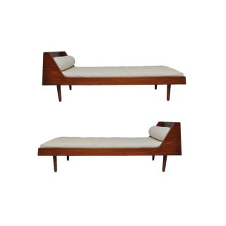 Pair of Teak Danish Daybeds