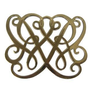 Brass Cypher Trivet