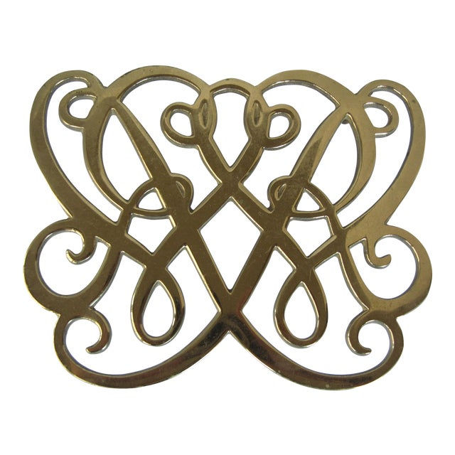 Brass Cypher Trivet - Image 1 of 4
