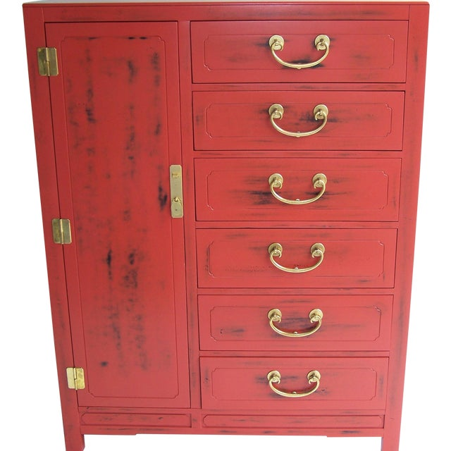 White Furniture Co. 1970 Red Dresser - Image 1 of 5