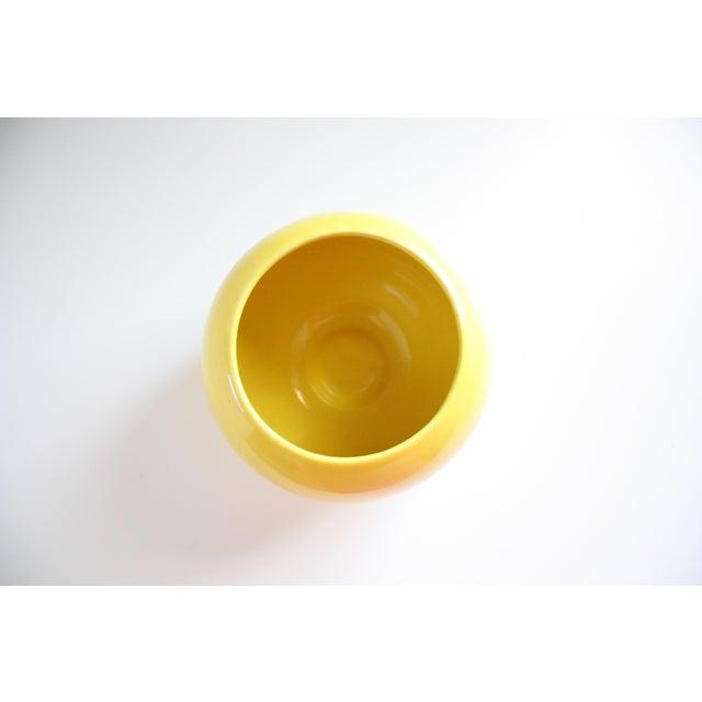 Mid-Century Yellow Ceramic Vase - Image 4 of 5