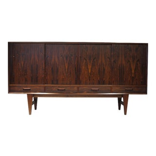 Danish Rosewood Sideboard with Mirrored Bar
