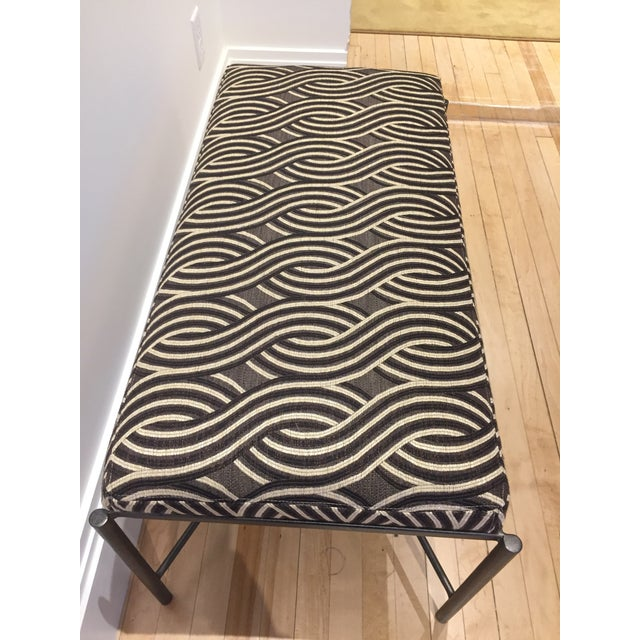 Serpentine Jacquard Upholstery Bench - Image 2 of 3