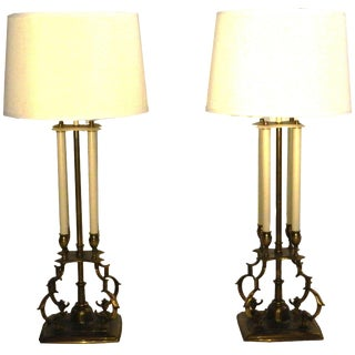Stiffel Brass Table Lamps - A Pair