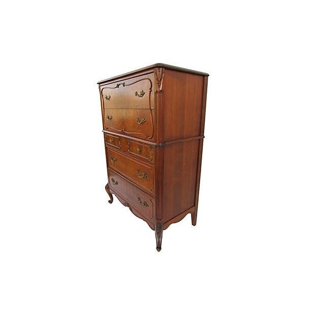 Image of Vintage French Provincial Chest on Chest Dresser
