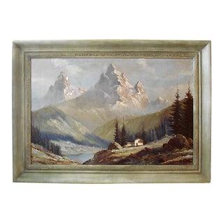 Watzmann Mountains Bavarian Alps Oil on Canvas