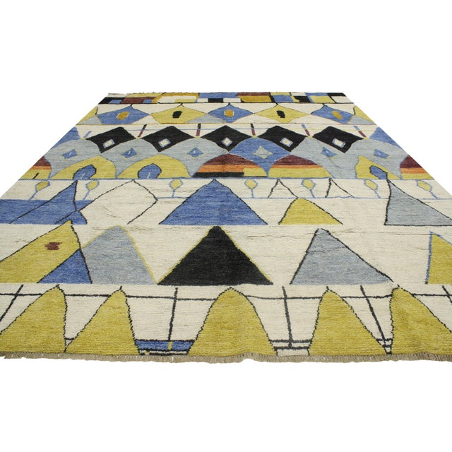Contemporary Moroccan Style Rug with Modern Geometric Design - Image 3 of 6