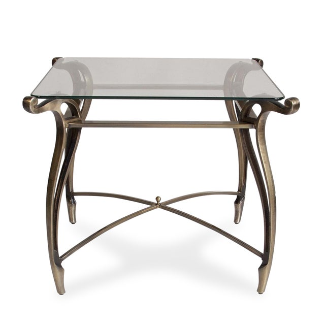 Tapered Bronze Side Table - Image 3 of 5