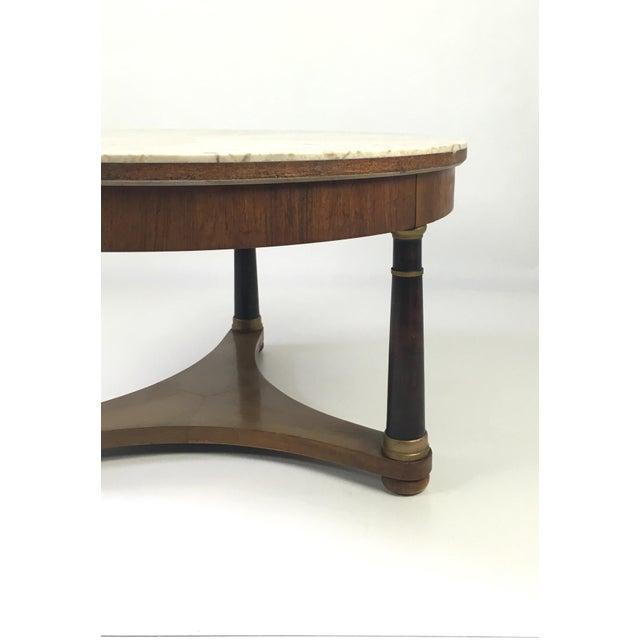 Hollywood Regency Marble Top Coffee Table - Image 6 of 9