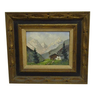 "Original Beautifully Framed Painting -- ""Lone Cabin"""