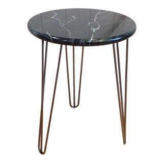 Hand Painted Faux Stone Side Table