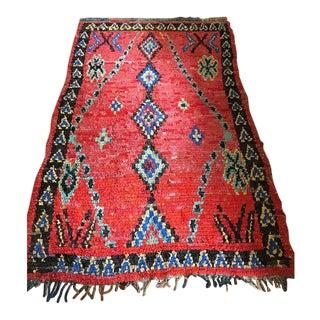 Vintage Moroccan Boucherouite - 5′ × 8′