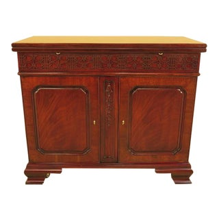 Henkel Harris Chippendale Style Flip Top Mahogany Server