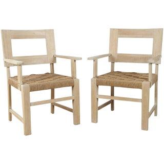 Pair of European Rush Chairs