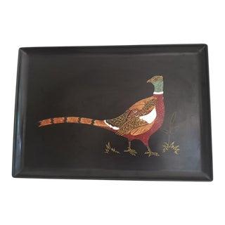 1960s Vintage Couroc Pheasant Tray