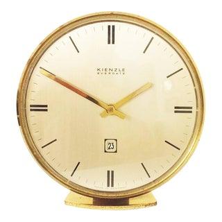 Mid-Century Brass Table Clock by Kienzle