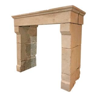 Louis iii Antique Limestone Mantel