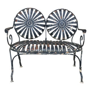 1930's French Sunburst Bench By Francois Carre