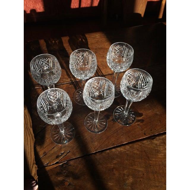Waterford Crystal Stem Wine Hock Glasses - Image 3 of 4