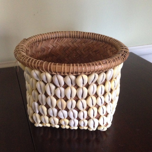 Vintage Woven Shell Basket - Image 2 of 11
