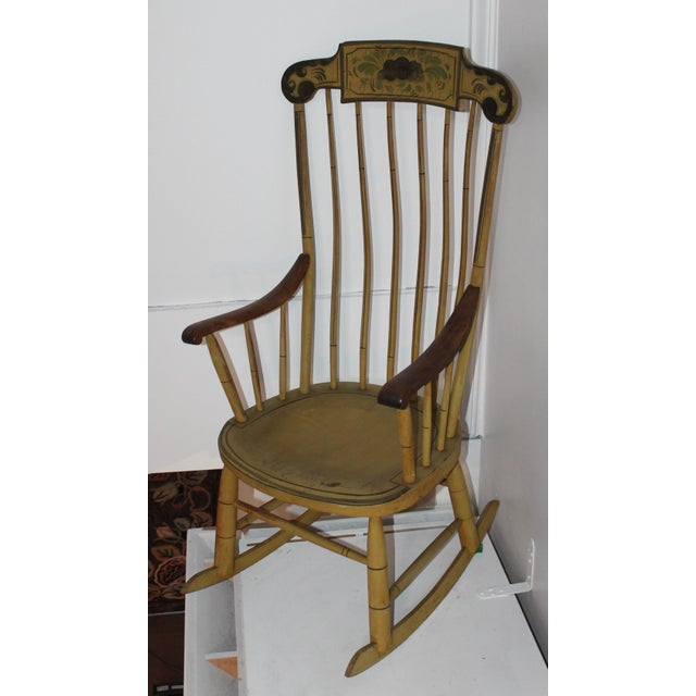 19th Century Fancy Original Painted Rocking Chair from New England - Image 3 of 10