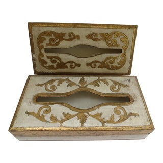 Florentine Tissue Boxes - A Pair