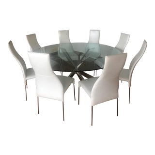 Y-Living Spyder Round Table & Cattelan Italia Chairs - Set of 9