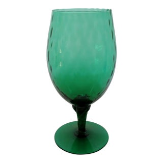 Green Glass Goblet Vase