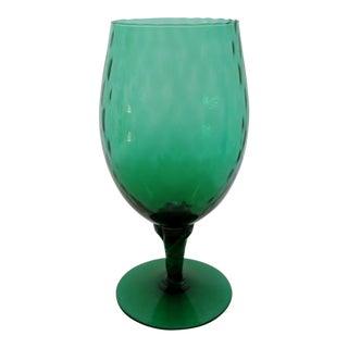 Green Glass Goblet Vase