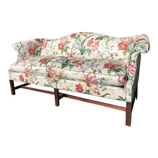 Vintage Hickory Chair Company Chinoiserie Camelback Sofa