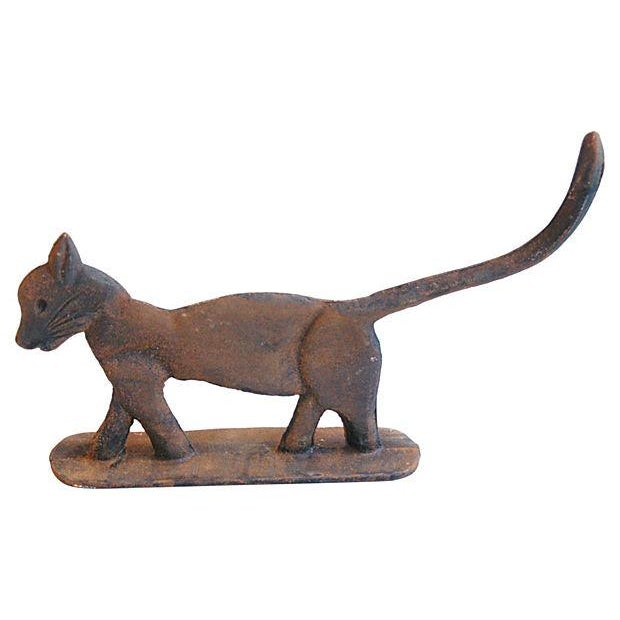 Image of Vintage Cast Iron Cat Boot Scraper/Doorstop