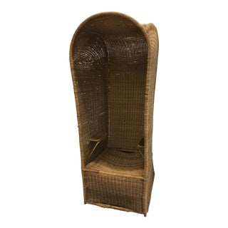 Vintage Rattan Sedan Chair