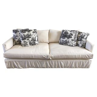 "Crate & Barrel 93"" Slipcover Lounge Sofa"