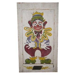 Vintage Clown Bean Bag Toss Carnival Circus Game