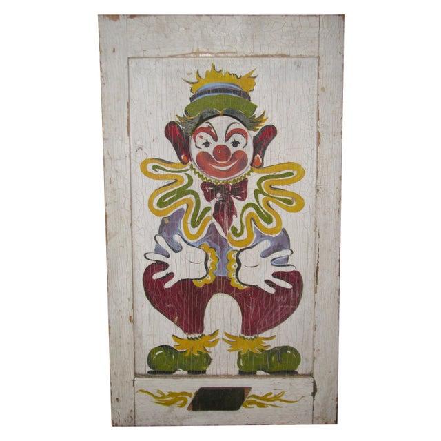 Vintage clown bean bag toss carnival circus game chairish for Bag decoration games