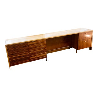 Mid-Century Modern Credenza Executive Desk