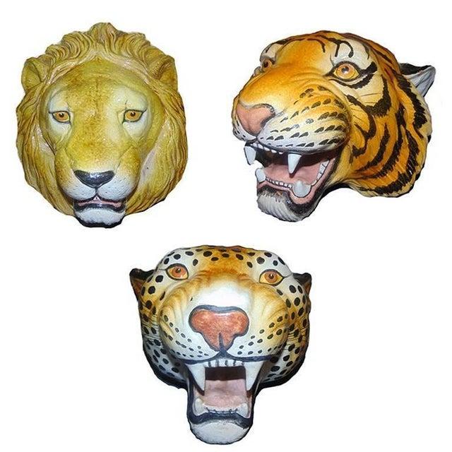 Italian Ceramic Safari Busts - Set of 3 - Image 9 of 9