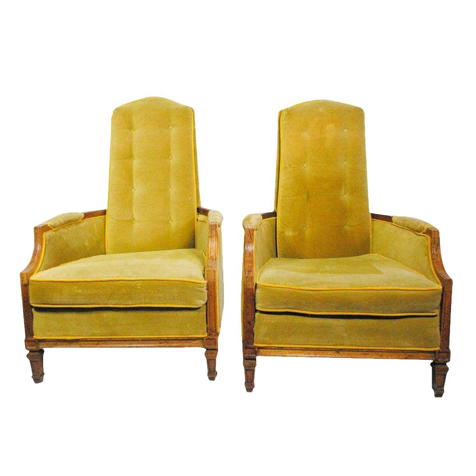 American of Martinsville High Back Chairs : Chairish