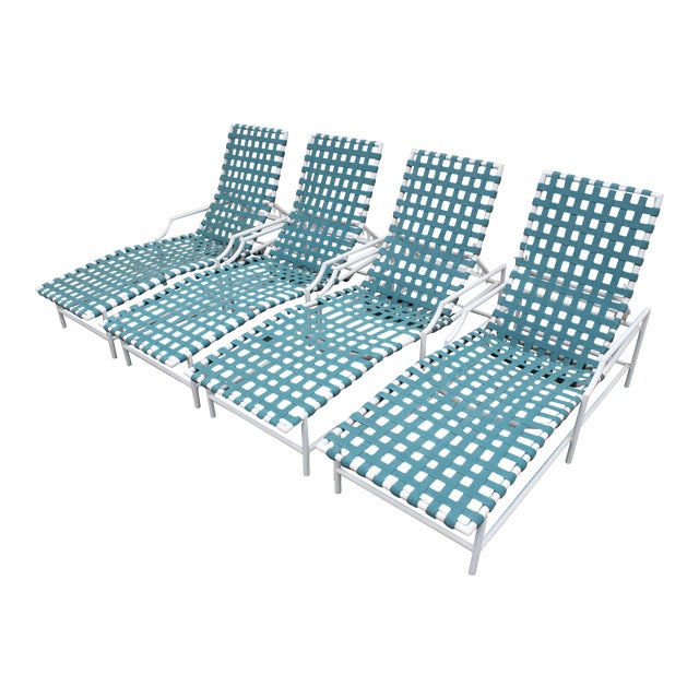 Mid-Century Tropitone 'Cantina' Reclining Patio Lounges - Set of 4 - Image 1 of 11