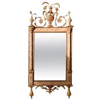 Antique 18th Century Neoclassical Marble Mirror