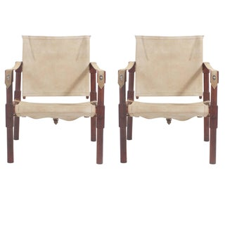 Pair of Campaign Safari Chairs