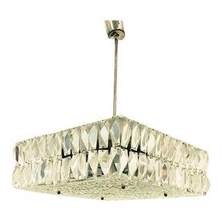 Crystal Ceiling Light from Kalmar, 1960s