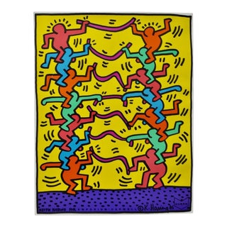 """Keith Haring """"Emporium Capwell"""" Offset Lithograph Exhibition Poster c.1985"""