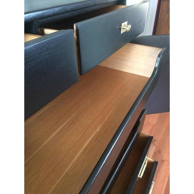 Black Solid Wood Dresser Tallboy Chest - Image 5 of 9