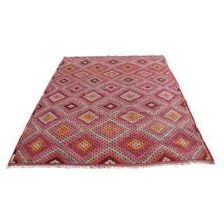 Vintage Turkish Kilim Rug - 6′3″ × 9′10″