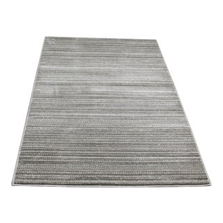 "Small Gray Striped Rug - 2'8"" X 5'"