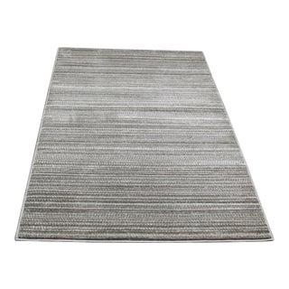 "Small Gray Striped Rug - 2'8"" X 5'"