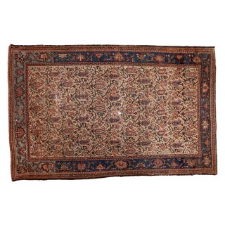 "Vintage Persian Malayer Rug - 4'1"" X 6'3"""