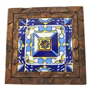 Blue Talavera-Style Tile Trivet